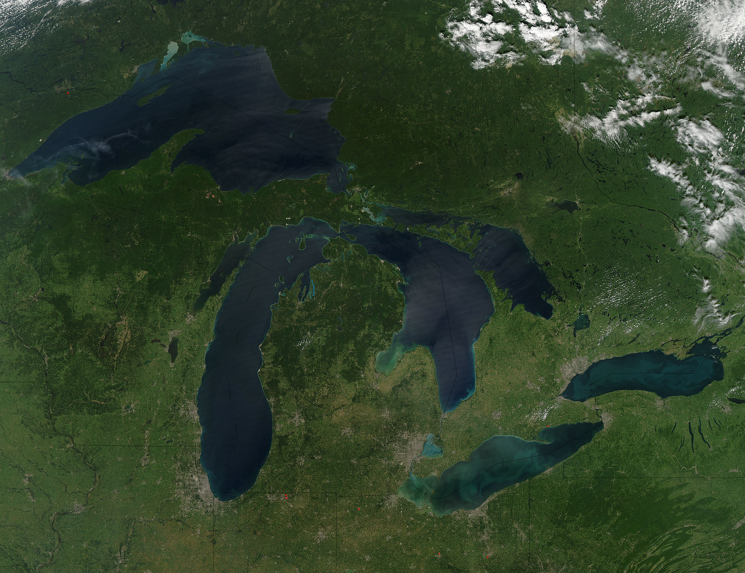 Spatial capture of geographical area of Michigan